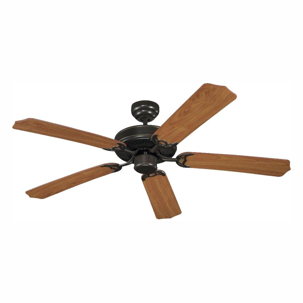Sea Gull Lighting Quality Max Collection 52 in. Heirloom Bronze 5 Blade Ceiling Fan