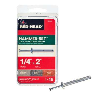 1/4 in. x 2 in. Hammer-Set Nail Drive Concrete Anchors (15-Pack)