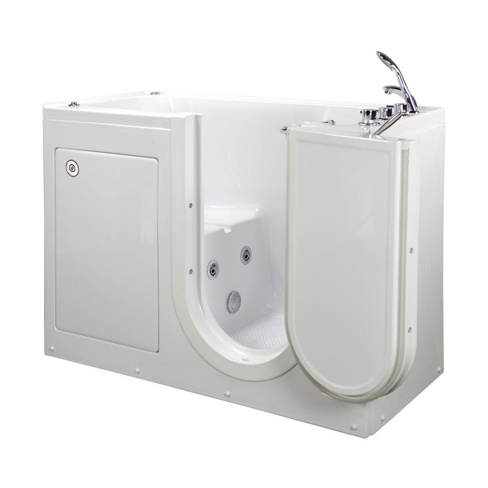 Walk In Tub With Heated Seat. Lounger Acrylic Walk In Whirlpool Tub in White  RHS Outward Ella 60