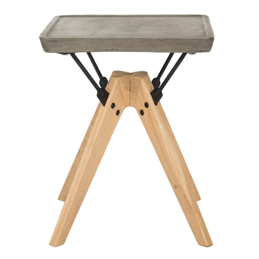 Marcio Dark Gray Stone Indoor/Outdoor Side Table