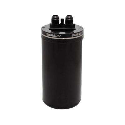 4in OD Universal Catch Can 2.0 w/ Integrated Filter Aluminum - Anodized Black