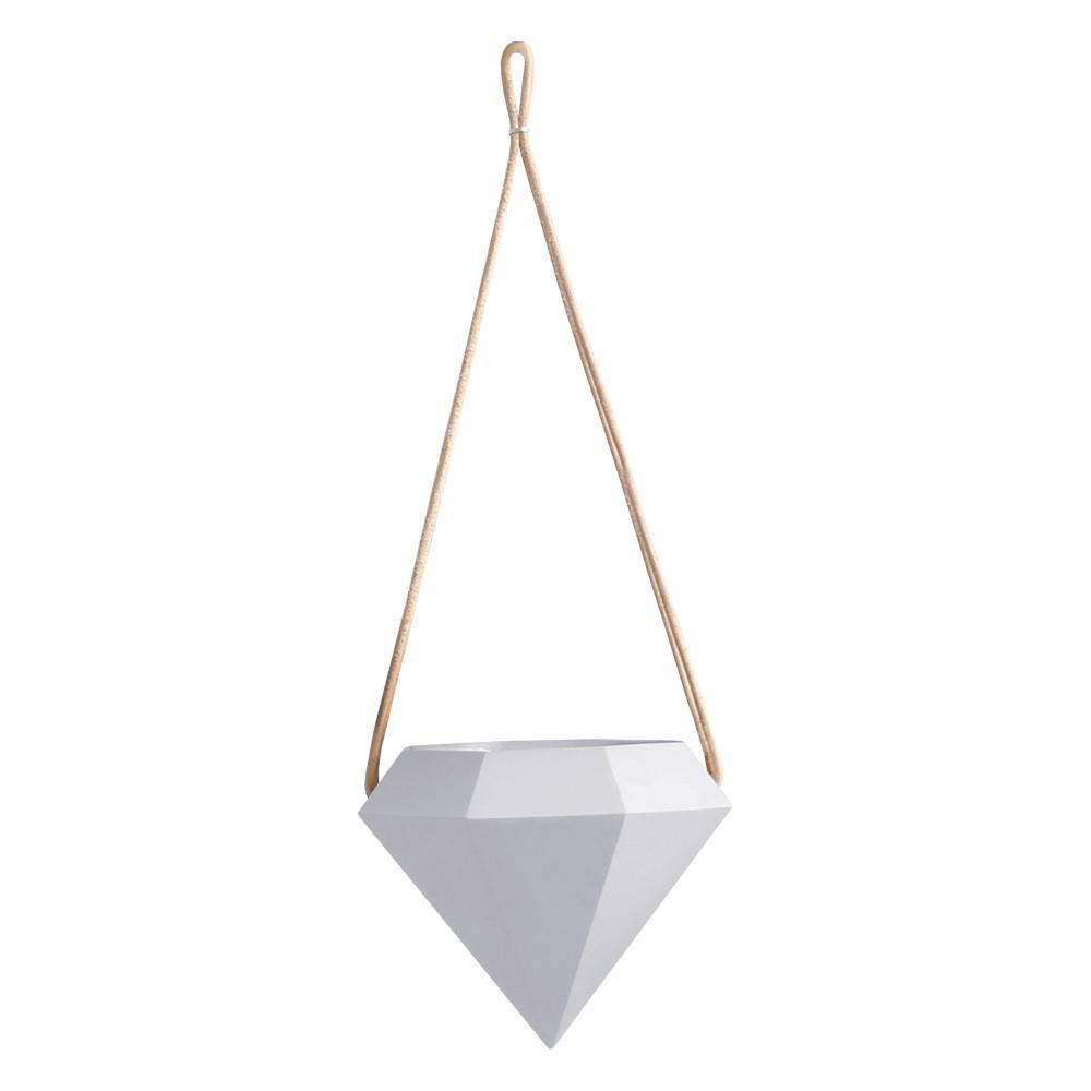 Diamond 4-1/2 in. x 4-1/2 in. Sky Ceramic Hanging Planter