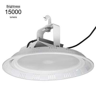 18 in. 400 Watt Equivalent White Integrated LED Round High Bay