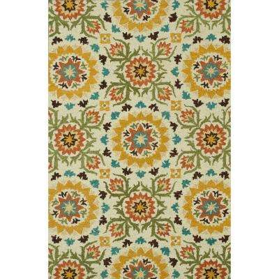 Taylor Lifestyle Collection Ivory/Multi 3 ft. 6 in. x 5 ft. 6 in. Area Rug