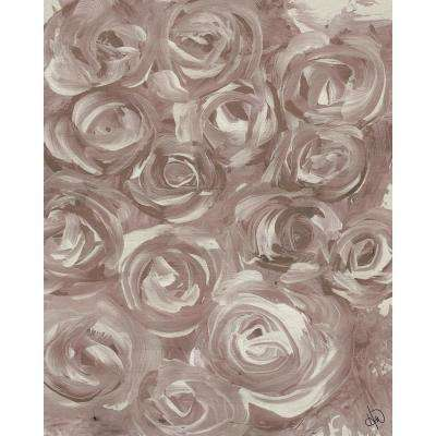 """11 in. x 14 in. """"Roses"""" Planked Wood Wall Art Print"""