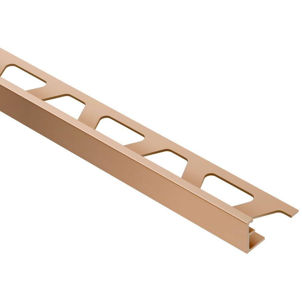 Schluter Jolly Satin Copper Anodized Aluminum 1/4 in. x 8 ft. 2-1/2 in. Metal Tile Edging Trim