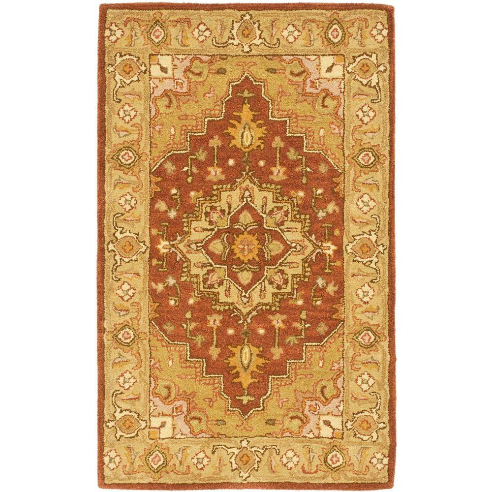 Safavieh Heritage Rust/Gold 3 ft. x 5 ft. Area Rug