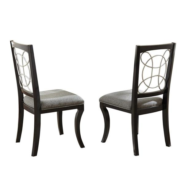 Steve Silver Cayman Black Side Chair (Set of 2) CY480S