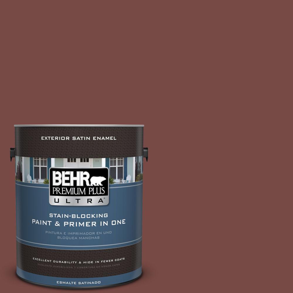 BEHR Premium Plus Ultra 1-gal. #170F-7 Leather Bound Satin Enamel Exterior Paint