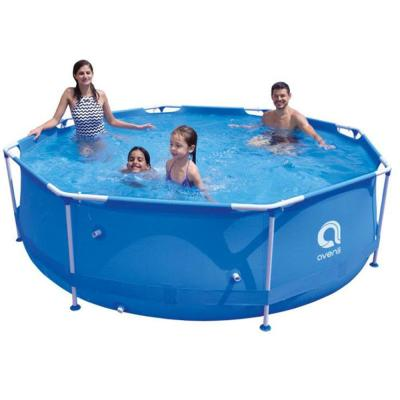 30 in. Round 144 in. Deep Metal Frame Pool Above Ground Swimming Pool Set Outdoor Garden