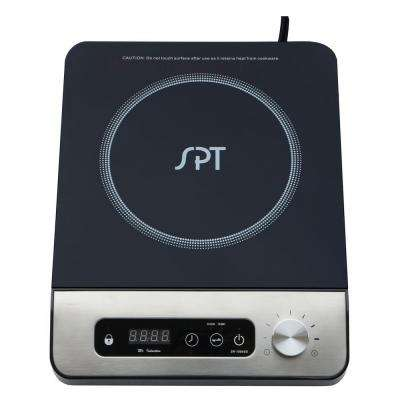 12 in. 1650 Watt Induction Cooktop in Black with 13 Power Settings and 1 Element