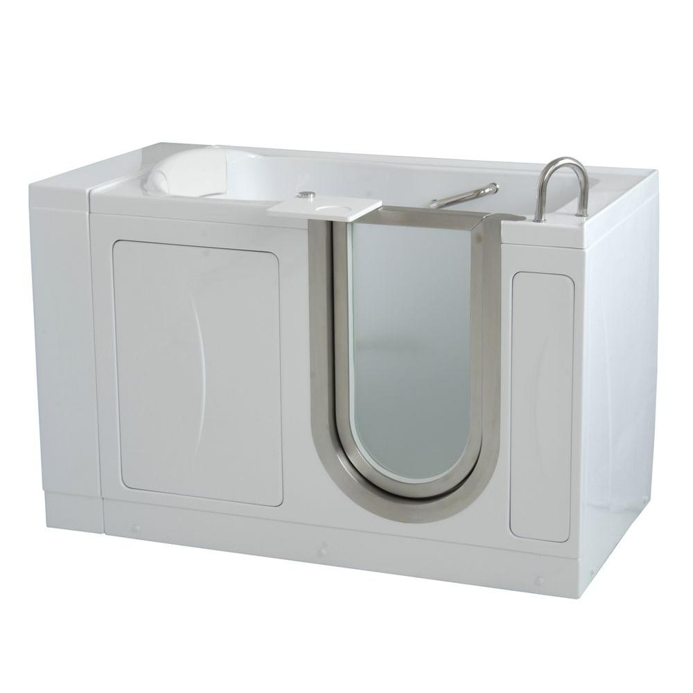 Tub King Walk In Tubs. Acrylic Walk In Soaking Bathtub in Ella Lay Down 5 ft  x 30 White with