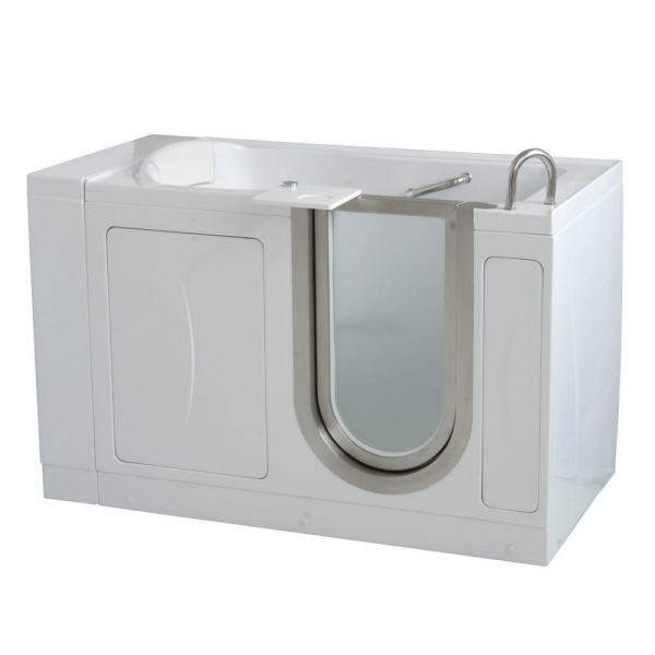 Royal 4.33 ft. x 32 in. Acrylic Walk-In Soaking Bathtub in White with Right Drain/Door