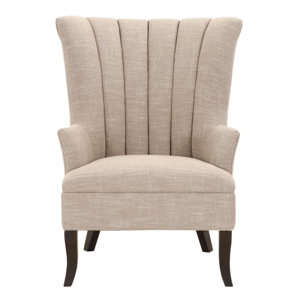 Carlotta Birch Linen Club Chair