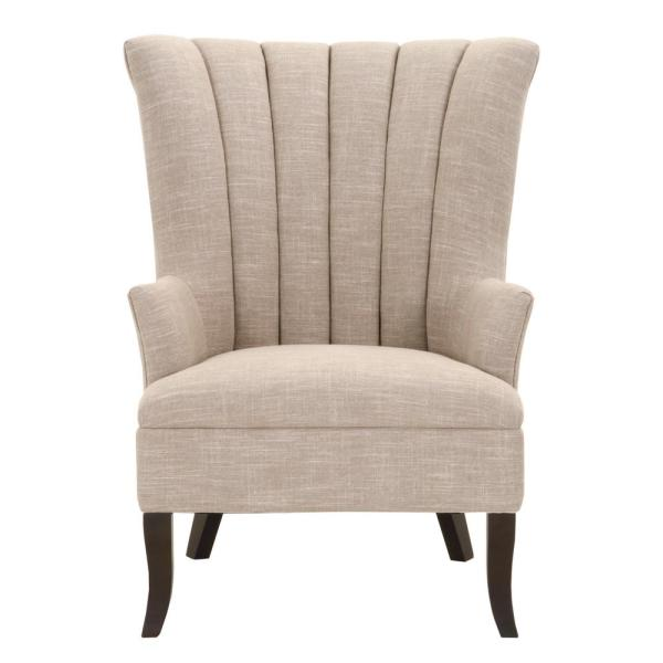 Home Decorators Collection Carlotta Birch Linen Club Chair 9965000810