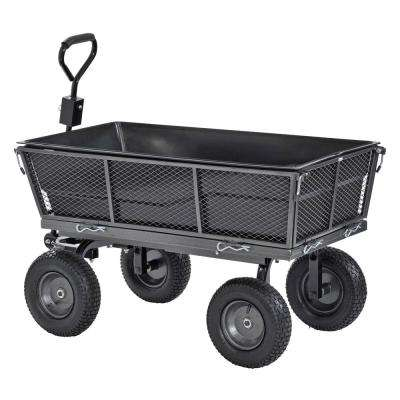 Muscle Carts 1,200 Lbs. Capacity Steel Dump Cart With Removable Sides And  Full Bed Liner