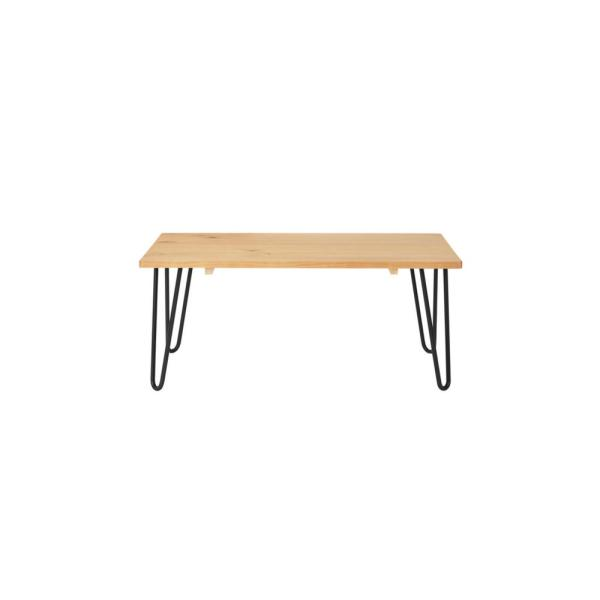 Banyan Rectangular Honey Wood Coffee Table with Hairpin Legs (42 in. W x 17.85 in. H)