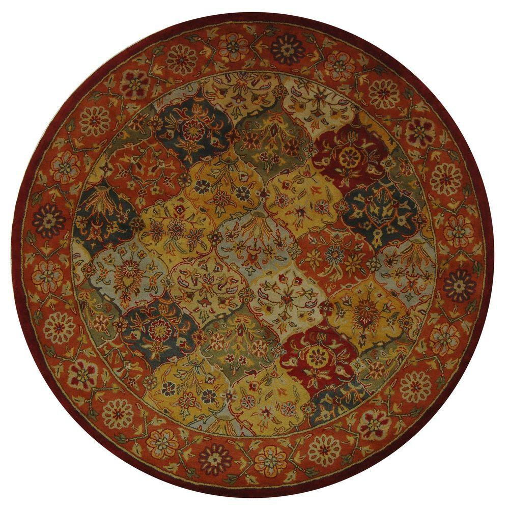 Home Decorators Collection Masterpiece Red 6 Ft. Round