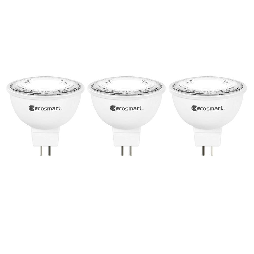 50-Watt Equivalent MR16 Dimmable Energy Star LED Light Bulb Bright White (3-Pack)