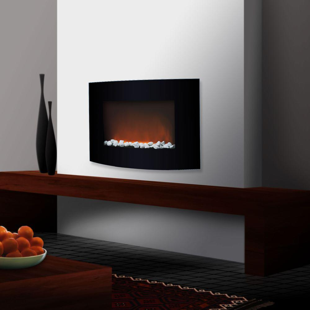 Trademark Global 33 in. Electric Fireplace in Black-DISCONTINUED