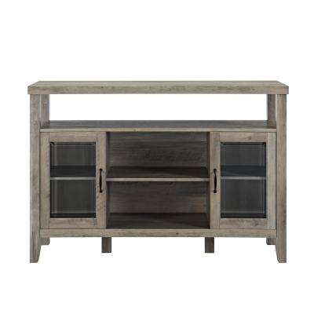 52 in. Grey Wash Wood Console High Boy Buffet