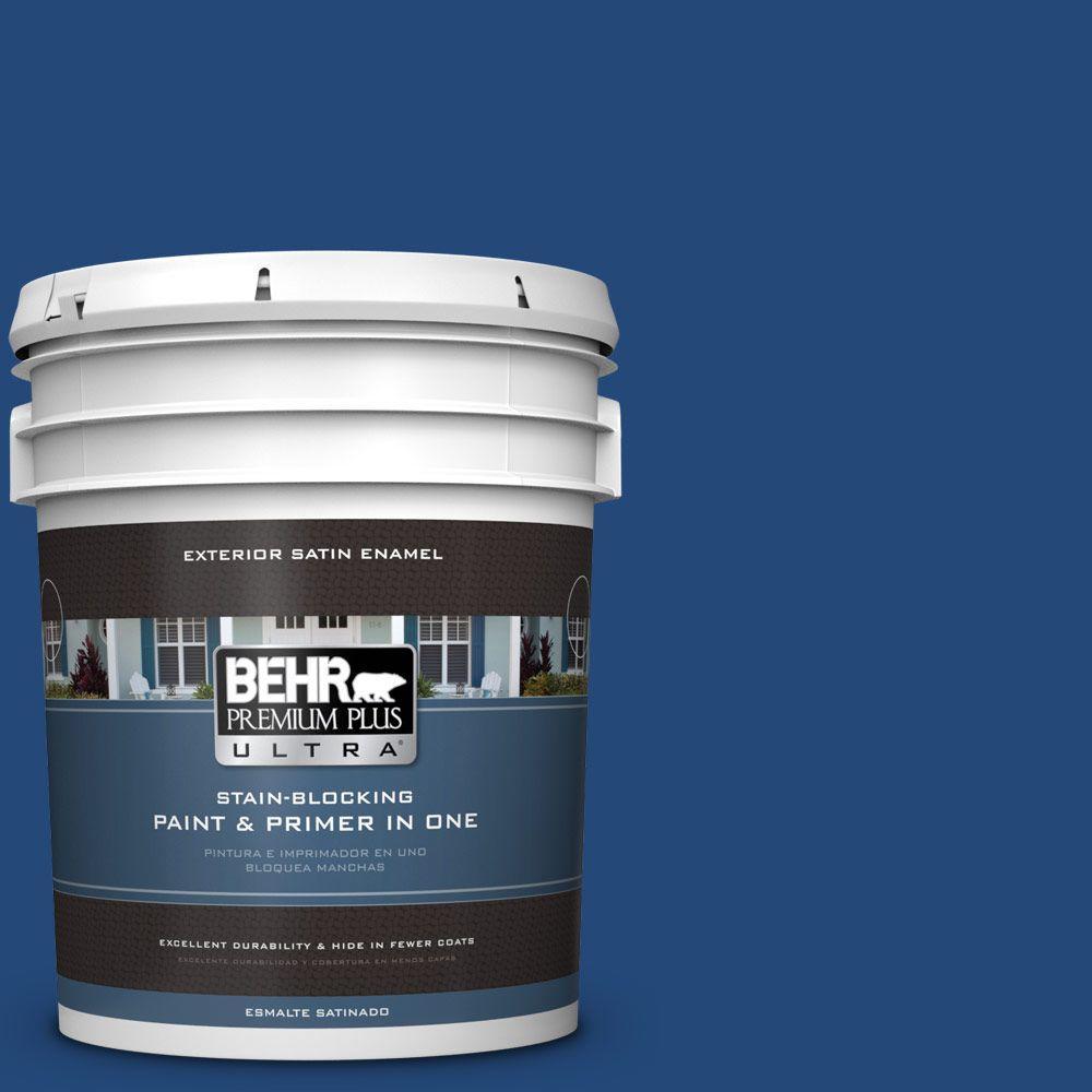 BEHR Premium Plus Ultra 5-gal. #S-H-590 Sailboat Satin Enamel Exterior Paint