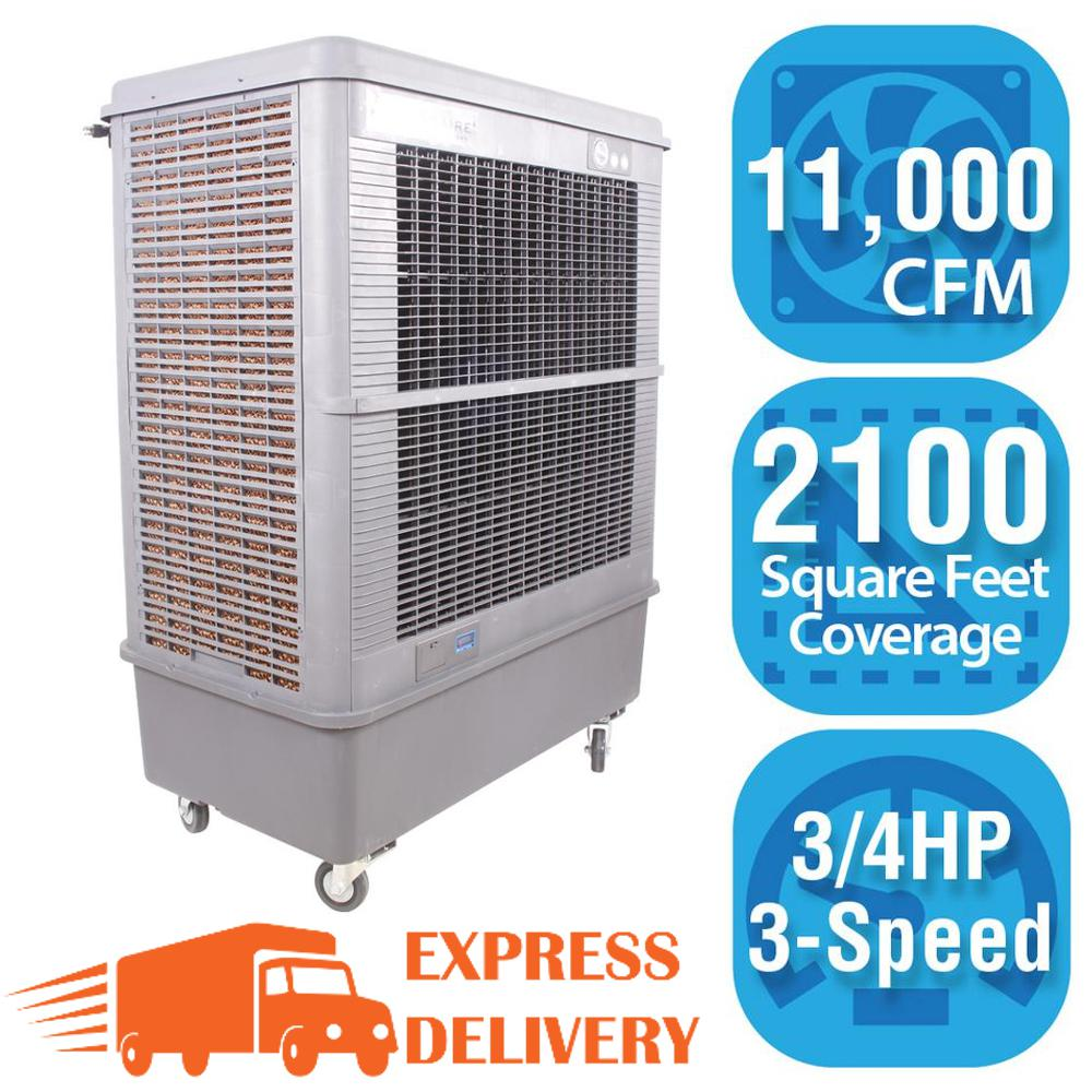 Hessaire 11,000 CFM 3-Speed Portable Evaporative Cooler