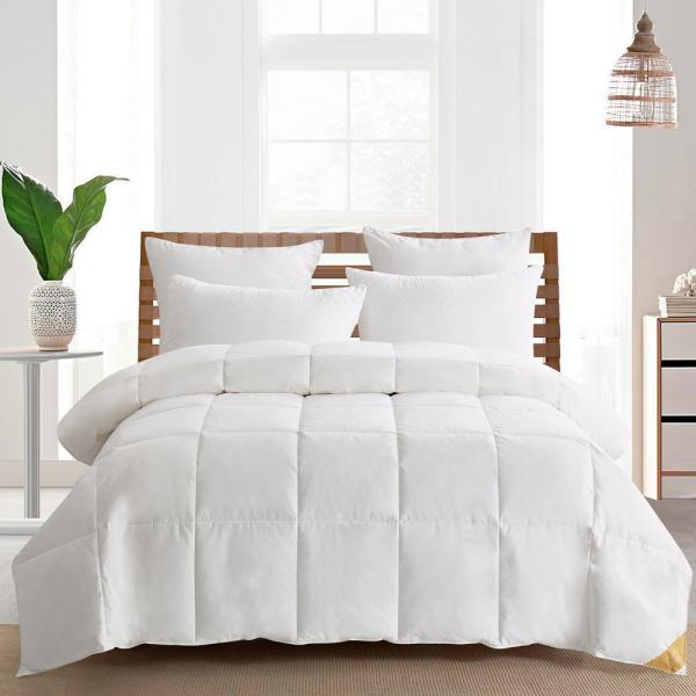 Light Warmth White King 75% White Goose Down Comforter