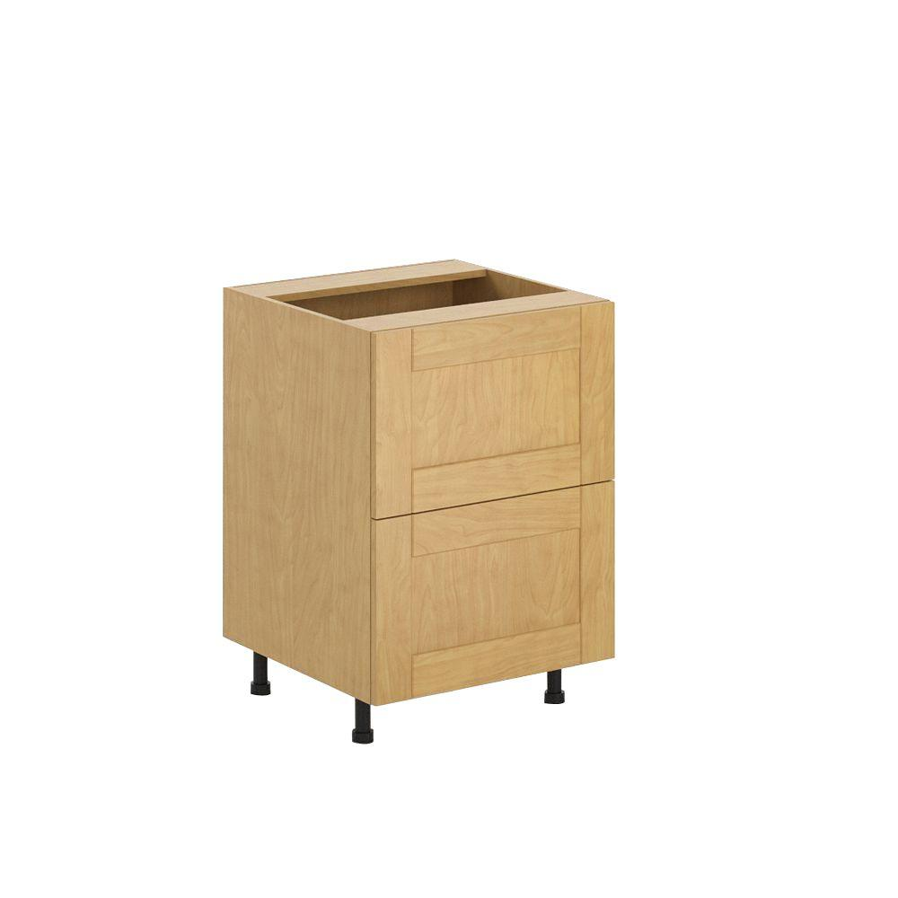 Ready to Assemble 24x34.5x24.5 in. Milano 2-Deep Drawer Base Cabinet in