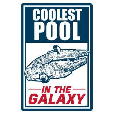12 in. x 18 in. Star Wars Coolest Pool in the Galaxy Pool Sign