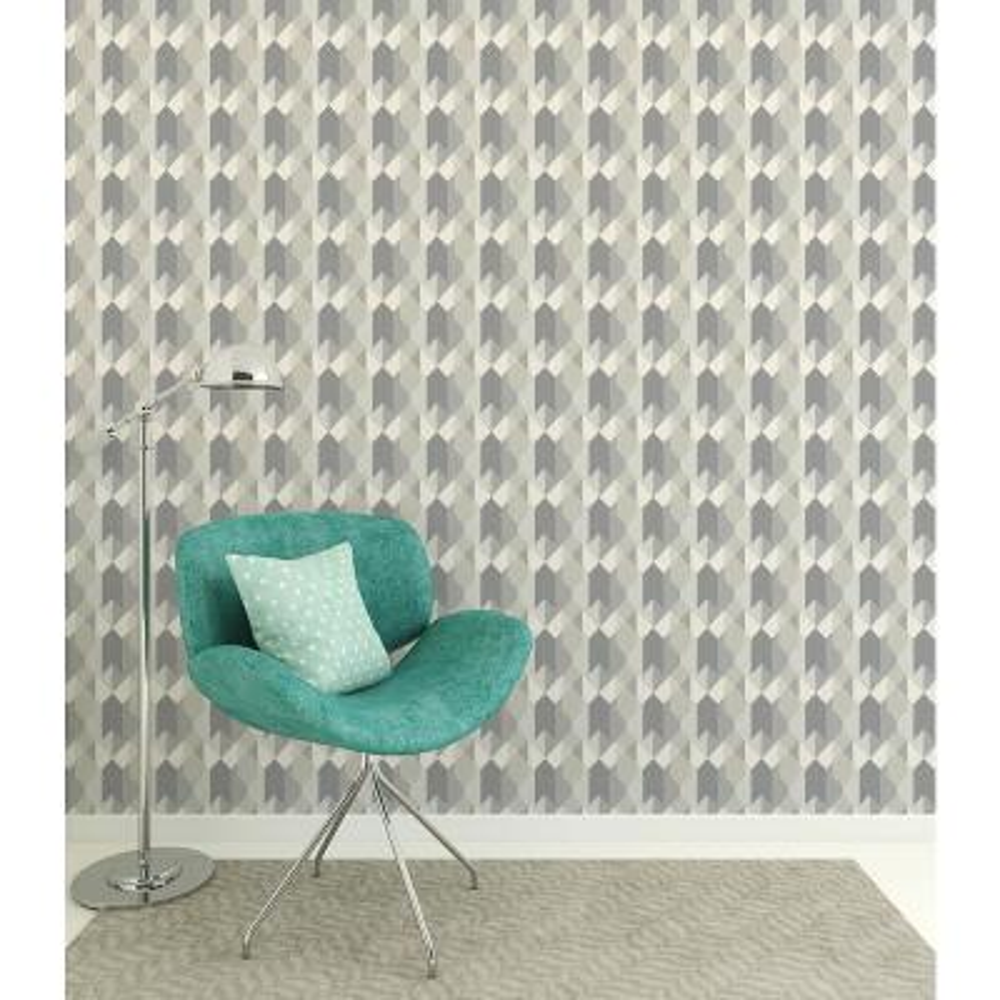 Copenhagen Grey Geometric Peelable Wallpaper (Covers 56.4 sq. ft.)