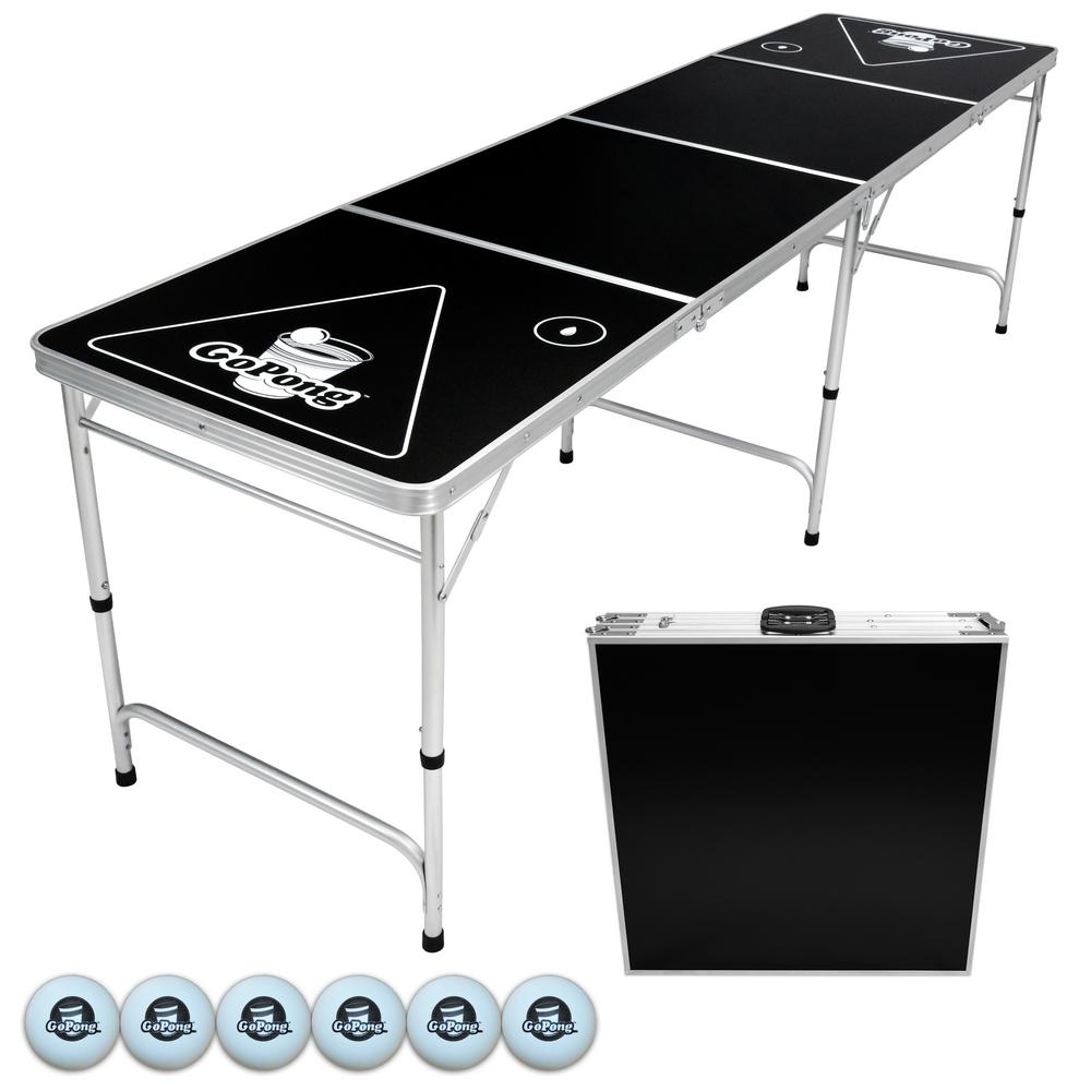8 ft. Foldable Beer Pong Party Game Table Lightweight Aluminum Design