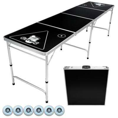 8 ft. Foldable Beer Pong Party Game Table Lightweight Aluminum Design Indoor Outdoor Portable Drinking