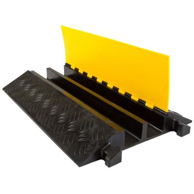 3 ft. L 2-Channel 3.25 in. Industrial Rubber Cable Ramp