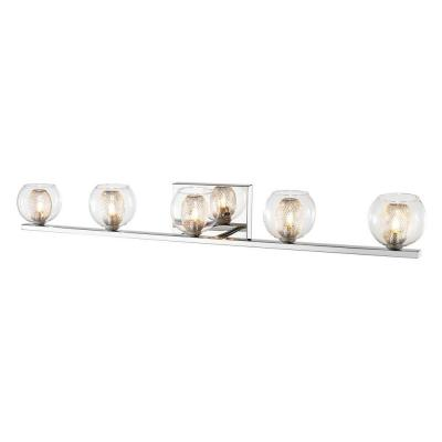 Peak 5-Light Chrome Bath Vanity Light