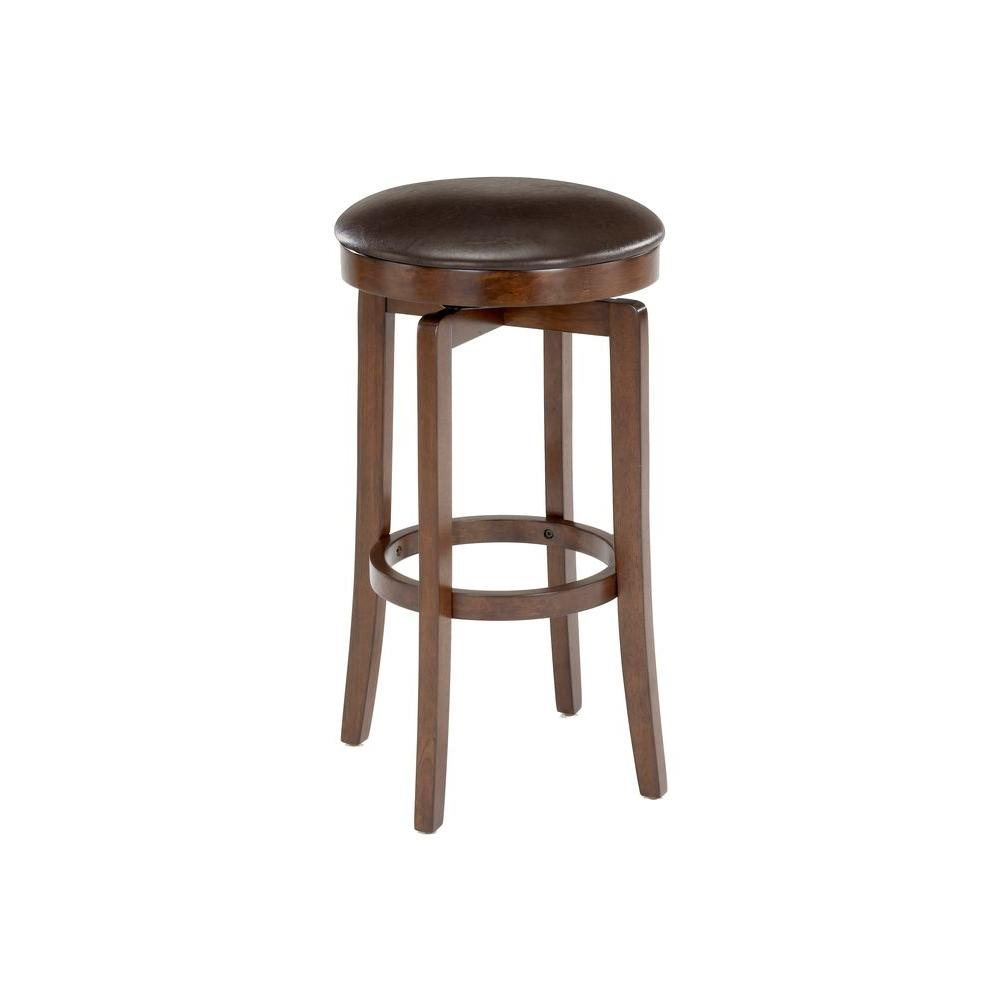 Hillsdale Furniture O'Shea 31 in. Brown Cherry Cushioned Bar Stool