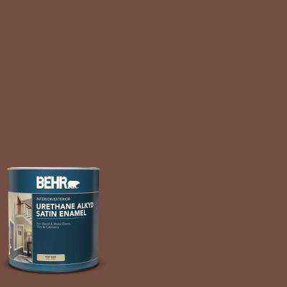 1 qt  #SC-129 Chocolate Satin Enamel Urethane Alkyd Interior/Exterior Paint