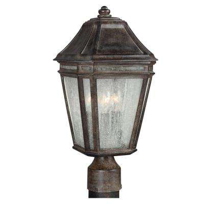 Londontowne 3-Light Weathered Chestnut Outdoor Post Top Light