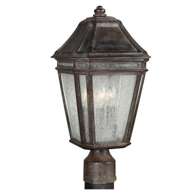 Londontowne 3-Light Weathered Chestnut Outdoor 14 in. Post Top Light
