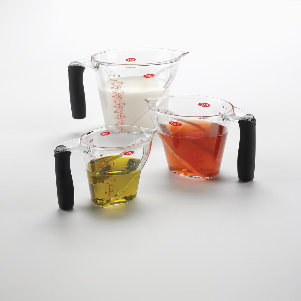 Good Grips 3-Piece Angled Measuring Cup Set,