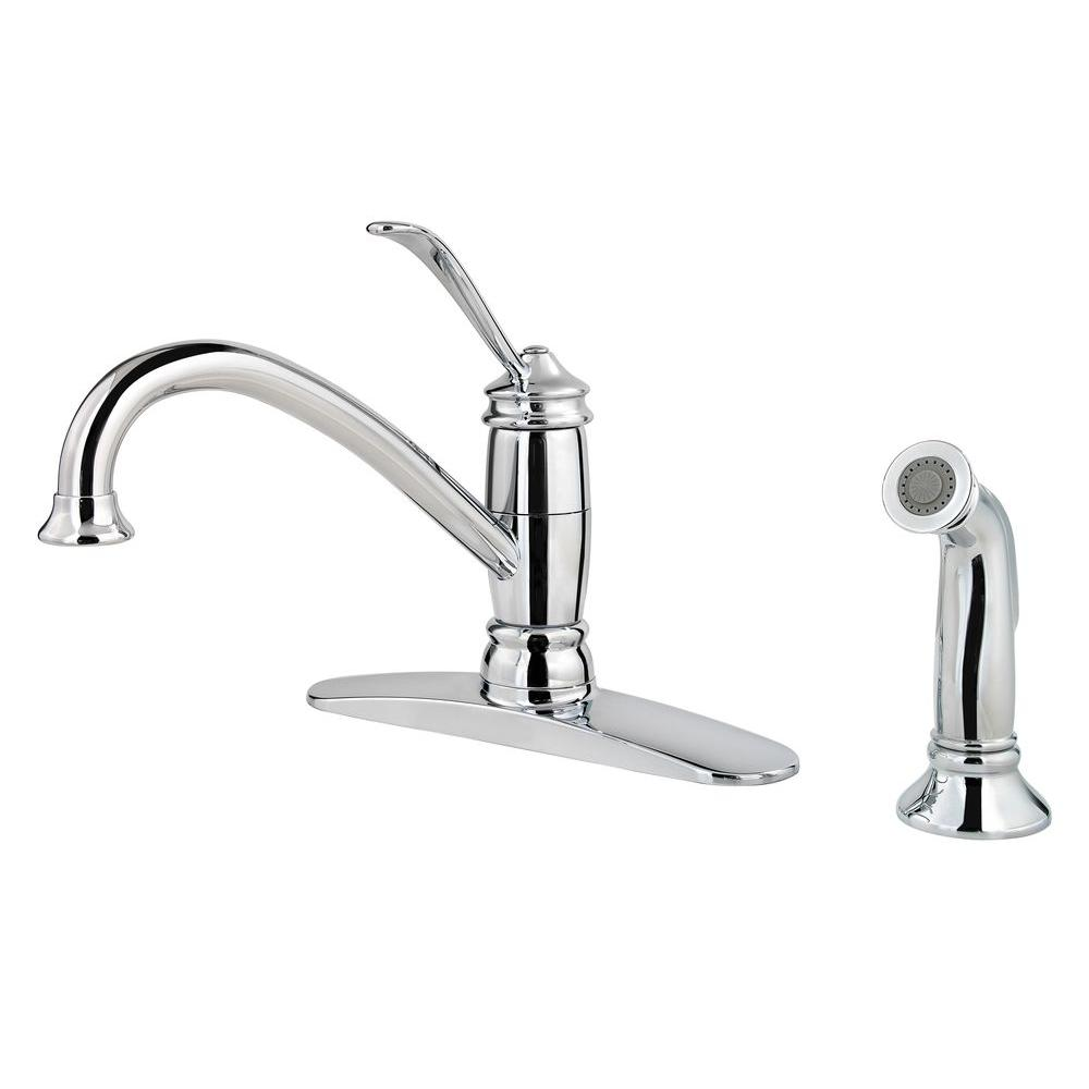 Brookwood Single-Handle Side Sprayer Kitchen Faucet in Polished Chrome