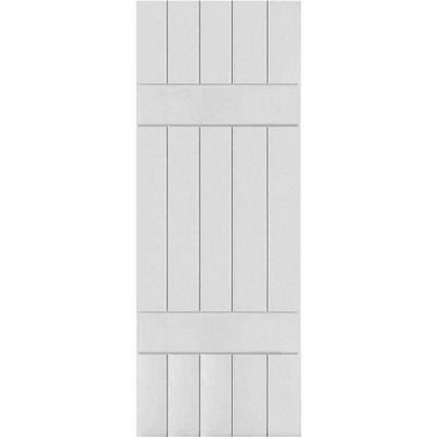 Ekena Millwork RWL18X049UNP Exterior Real Wood Pine Louvered Shutters 18W x 49H Per Pair Unfinished