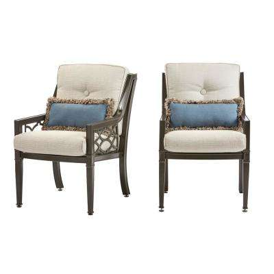 Richmond Hill 1 Pair Patio Dining Chairs With Hybrid Smoke Cushions (2 Pack