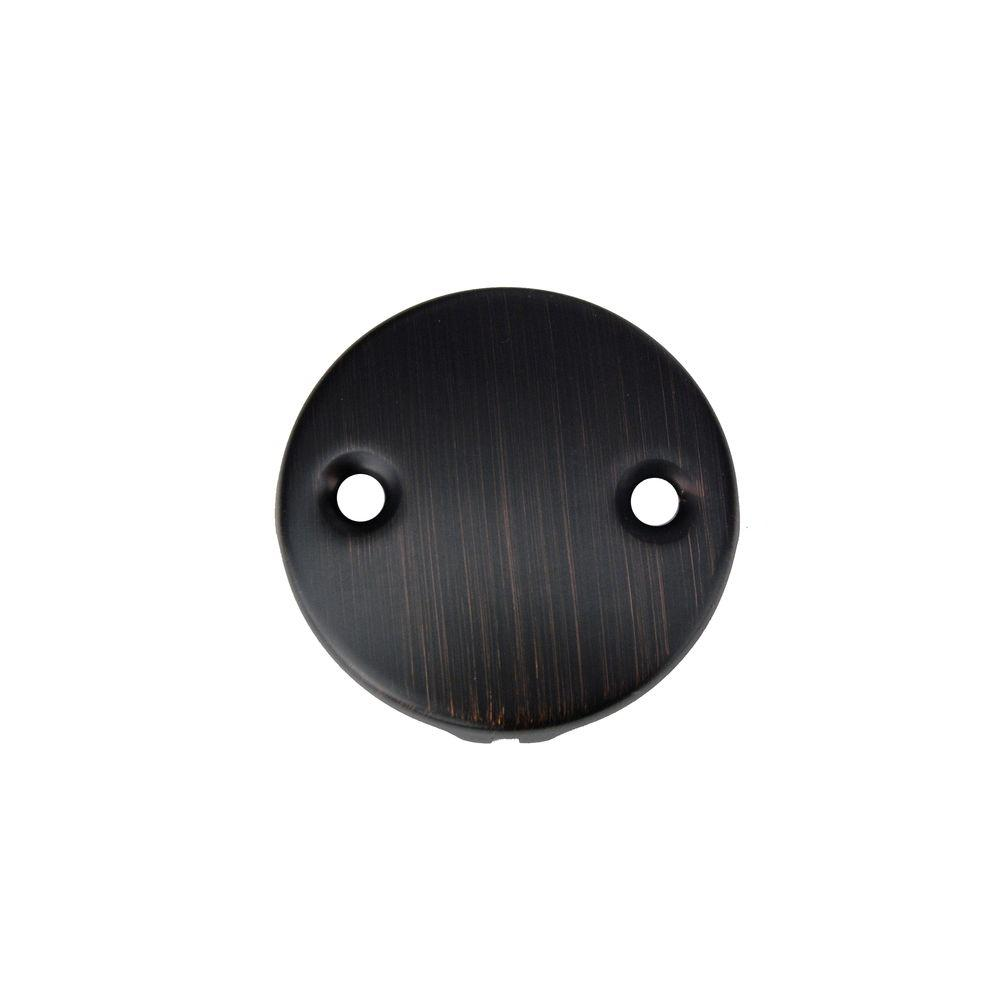 2-Hole Overflow Cover/Face Plate, Oil Rubbed Bronze