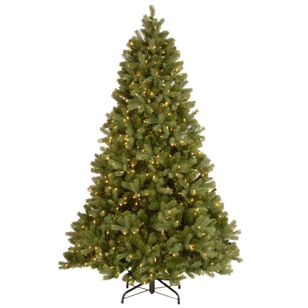 national tree company 7 ft downswept douglas fir artificial christmas tree with clear lights