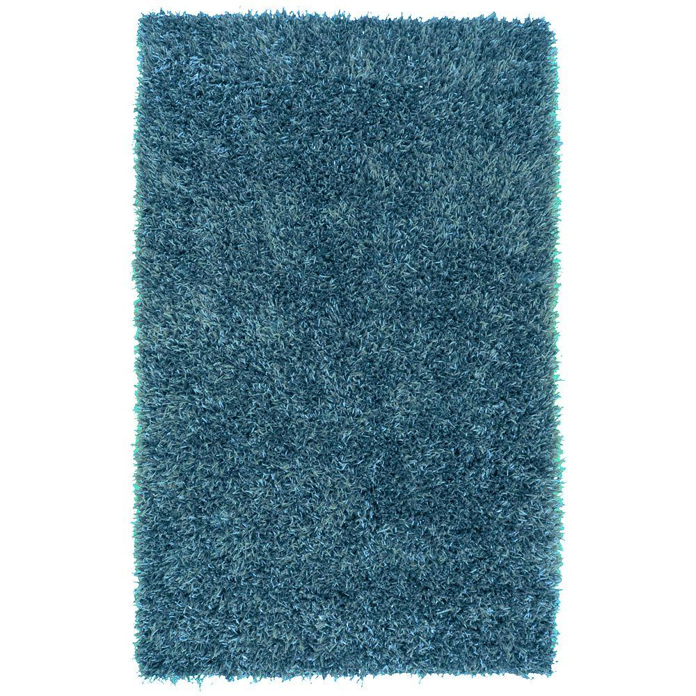 Hampton Teal Blue 5 ft. x 8 ft. Area Rug