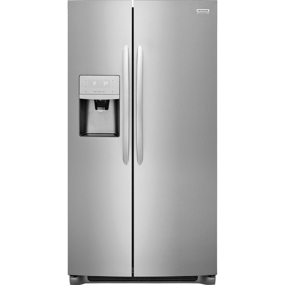 Ordinaire Side By Side Refrigerator In Stainless Steel, Counter