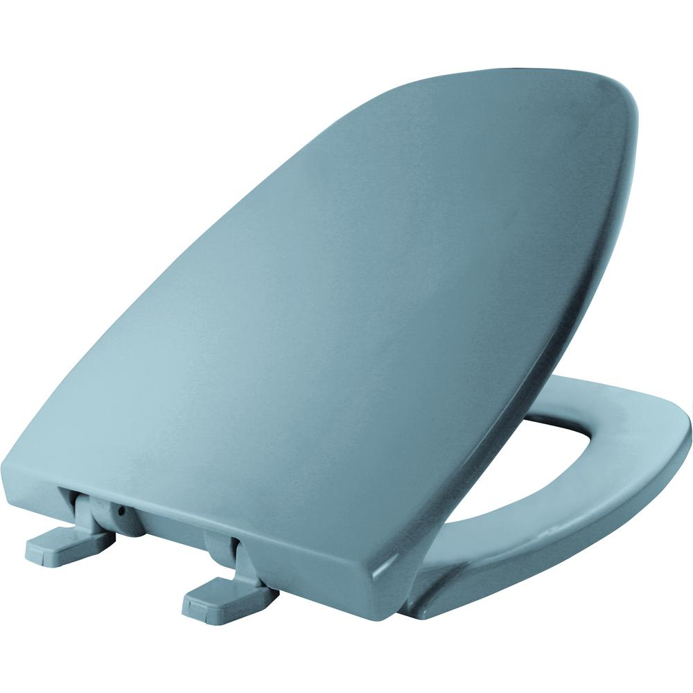 Elongated Closed Front Toilet Seat in Twilight Blue