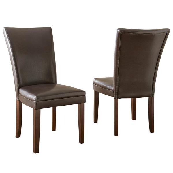 Steve Silver Company Hartford Brown Parsons Chair (Set of 2)