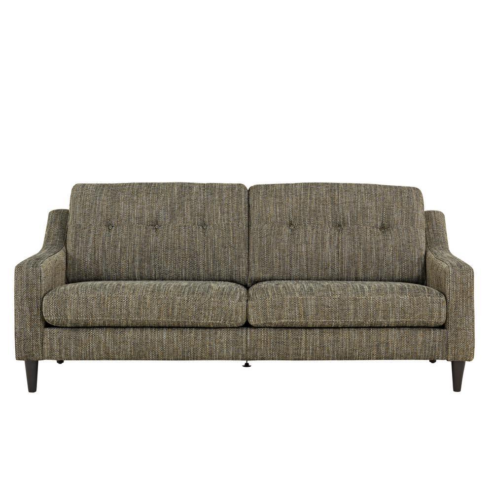 Handy Living Regina Black, White And Tan Tweed Scooped Arm SoFast Sofa